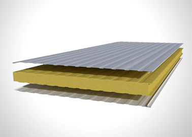 Energy Saving Pu Foam Sandwich Panel , Polyurethane Building Panels For Cold Room