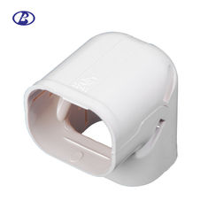 Screw Mount Air Conditioner Pipe Cover Heat Resistant PVC Material White Color